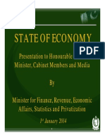 Presentation by Finance Minister of pakistan to the Prime Minister of Pakistan 2014 Januray