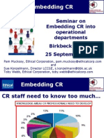 Ethical Corp Embedding CSR Debate 25 09 2009