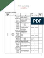 Clasa XI - EFS - Planul Calendaristic Semestrial