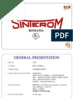 SINTEROM-2013 Company Presentation