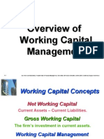 CH 13 Working Capital Overview