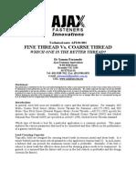 Technical Notefine Thread vs Coarse Thread