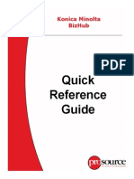 Copier Quick Reference Guide Bizhub Konica Minolta