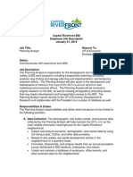 Capitol Riverfront BID Planning Analyst Job Posting