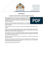 Guyana Nite Press Release 2 1 2014