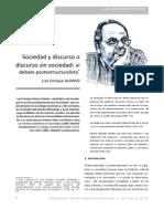 Postmodernismo y Post-estructuralismo (Luis Enrique Alonso, Encrucijadas 2012)