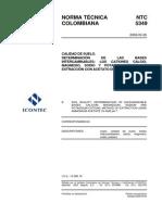 NTC 5349- Determinacion de Bases Cambiables