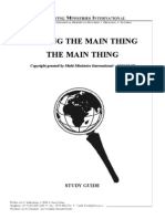 Making the Main Thing the Main Thing - Study Guide