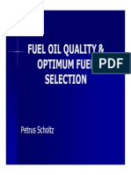 Fuel Quality and Optimum Fuel Selection by Petrus Scholtz