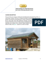 Solar Power Design for Small Structures