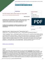 Anais Brasileiros de Dermatologia - Avaliação da qualidade de vida dos pacientes com hanseníase reacional estados tratado em um centro de referência de dermatologia