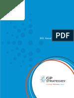 GP Strategies Annual Report 2012