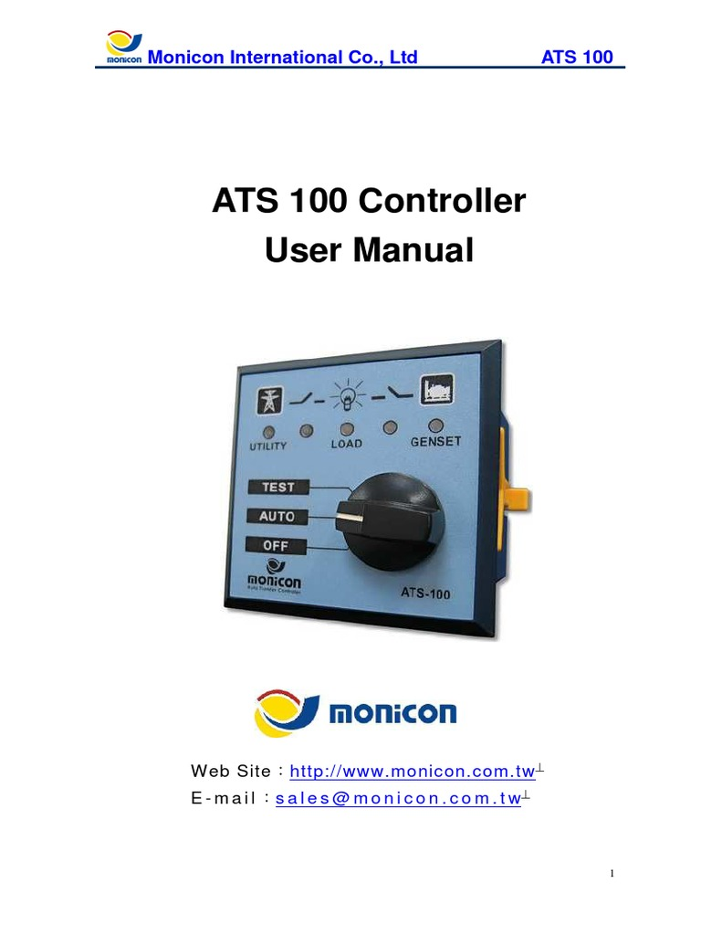 Monicon ATS 100 User Manual | Switch | Power Supply