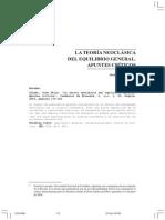LA TEORÍA NEOCLÁSICA DEL EQUILIBRIO GENERAL. APUNTES CRÍTICOS