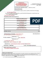 solicitud de certificación de denominación social