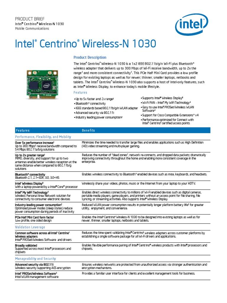 64 1030 bit driver wireless-n centrino intel