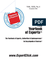 Yearbook of Experts - 30th Annual - February 1, 2014