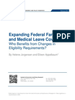 Expanding Federal Family and Medical Leave Coverage: