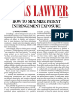 How to Minimize Patent Infringement Exposure