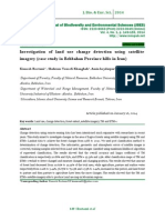 Investigation of  land use change  detection using satellite imagery (case study in Behbahan Province hills in Iran)