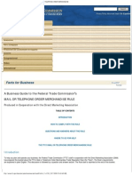 A Business Guide to the Federal Trade Commission's MAIL OR TELEPHONE ORDER M