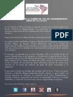 Bogotá participa en la V Cumbre Bienal de Alcaldes del C40 en Johannesburgo
