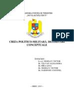 Tema Nr.5 Criza Politico-militara