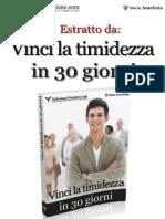 Anteprima Vinci La Timidezza in 30 Giorni