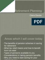 Claire Davies BJC on Retirement Planning