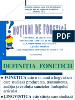 notiuni de Fonetica