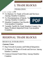 Regional Trade Blocks