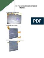 Armado de Un Panel Solar Con Kit de 36 Celdas