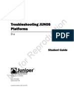 Troubleshooting Junos Platforms