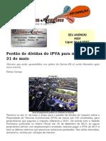 Perdão de dívidas do IPVA para motos vai até 31 de maio