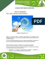 1. Aspectos ambientales y su clasificación