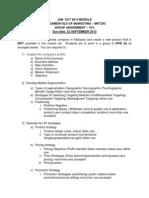 Assignment June Oct 2013 2a, 2b