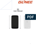 Gionee Elife E3 User Manual