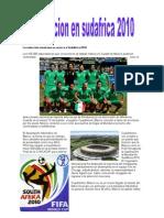 La selección mexicana se acerca a Sudáfrica 2010