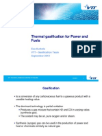 Thermal Gasification for Power and Fuels