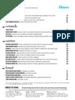 Kitchen LTO dinner menu
