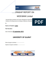 34802708 Internship Report on MCB Bank