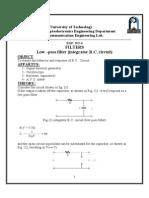 (6)Low –pass filter