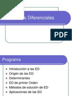 Introducción a las Ecuaciones Diferenciales