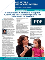 Saint Peter's Children's Hospital Only One In State Recognized for Treatment of Asthma
