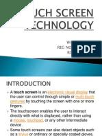 Wazid Ahsan Touch Screen Technology