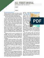 Wall Street Journal Write-Up - September 30, 2009 (downloadable)