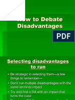 How to Debate Disadvantages Presentation