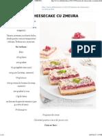 Edith's Kitchen_ Batoane de Cheesecake Cu Zmeura