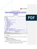 Selection Maintenance and Use of Electrical Safety Equipment and PPE
