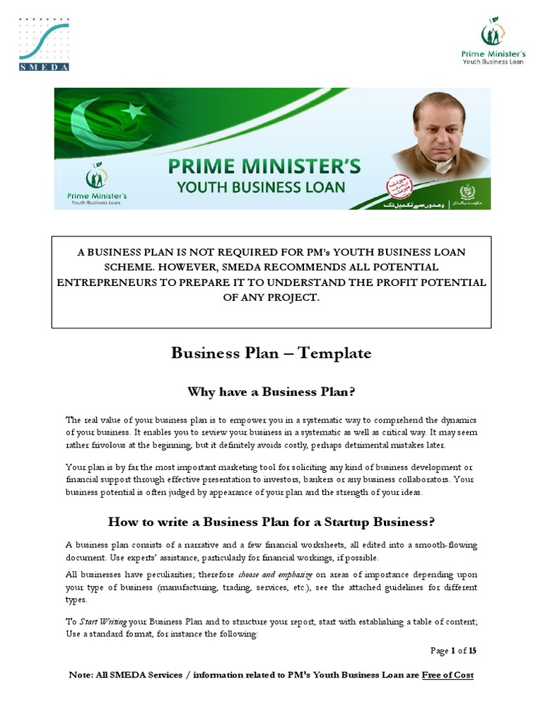 smeda business plan for youth loan
